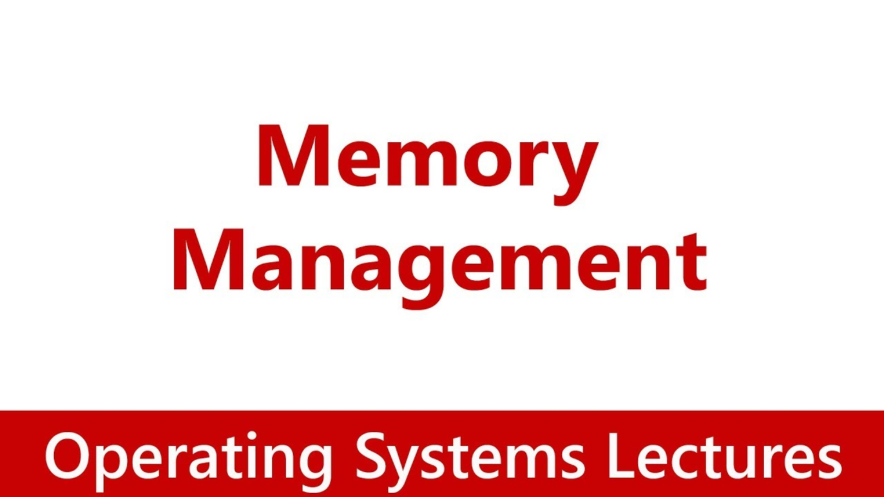memory management in operating systems The following jobs are loaded into memory using fixed partition following a windows is the best operating system with user friendly features but i think they.