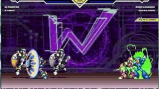 MUGEN - Ultimate X and Virus X VS. Zero Legends and Super Zero