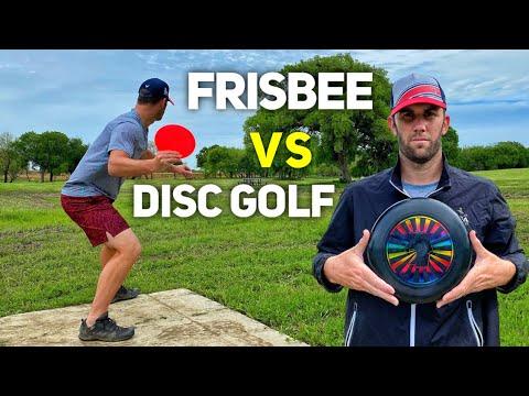 FRISBEE VS. DISC GOLF (5 Hole Battle)