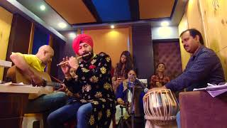 SANNU IKK PAL CHAIN AAVE recorded live to tribute Nusrat Fateh Ali Khan by Baljinder Singh BALLU FL