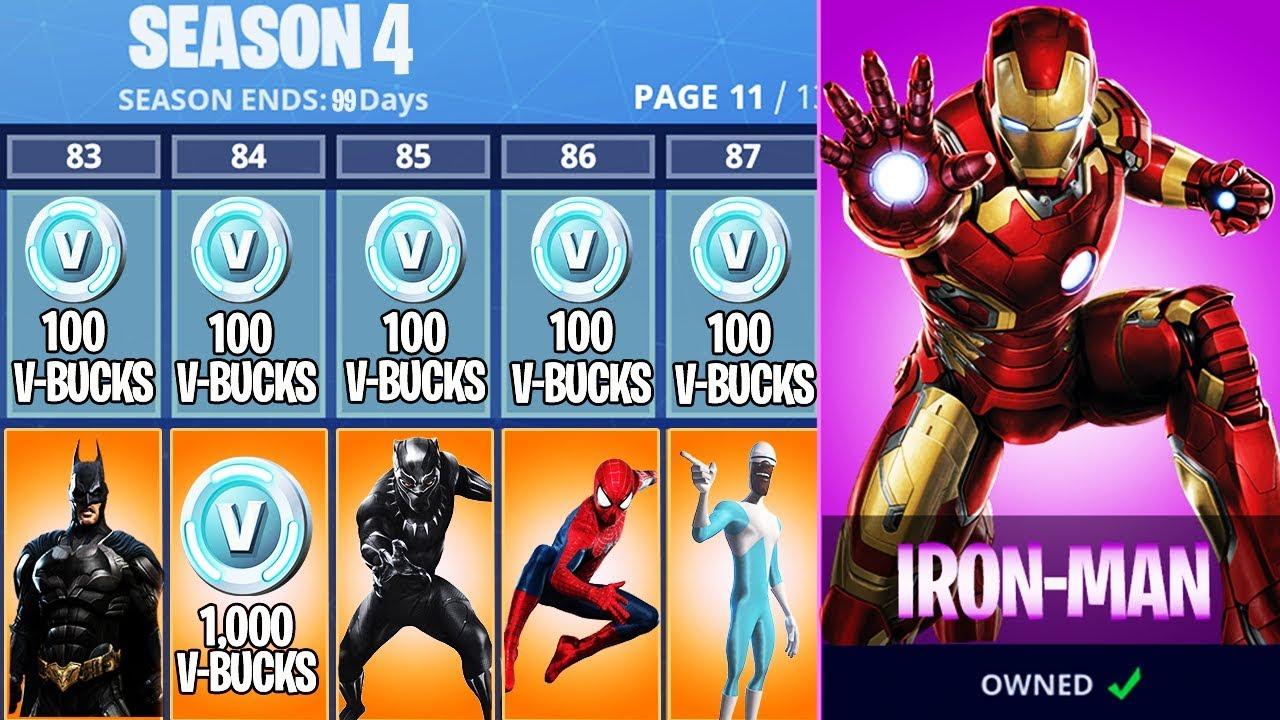 New SUPERHERO Skins in FORTNITE! New Season 4 Battle Pass ...