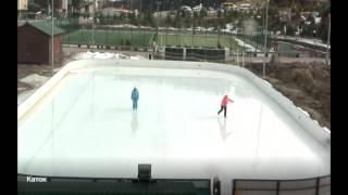 Обучение детей кататься на коньках