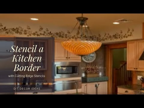 Stencils: How to Stencil a Kitchen Border. Wall stencils by Cutting ...