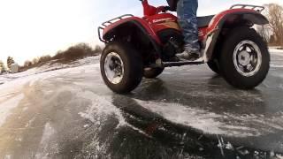 ATV Ice Drifting 2013