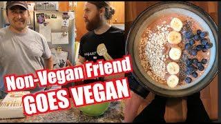 I Show Non-Vegan Friend No Oil No Salt VEGAN Diet