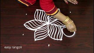 new friday kolam designs with 5 dots* latest easy & simple rangoli * chukkala muggulu *daily rangoli