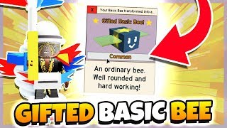 I GOT a GIFTED BASIC BEE in BEE SWARM SIMULATOR!! *EPIC* (Roblox)