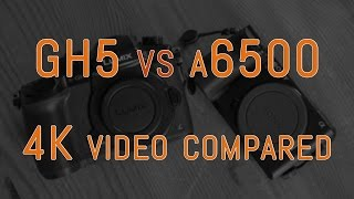 Panasonic GH5 vs Sony a6500 - 4K Video Comparison
