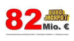 Eurojackpot Ziehung 26.01.2018: 82 Millionen Euro im Jackpot