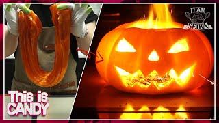 [설탕공예] 슈가슬라임으로 할로윈 호박사탕 만들기!! / How to make Halloween Pumpkin CANDY with Sugar Slime