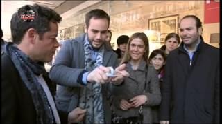 Por arte de magia - Jorge Sanz y Jorge Blass consiguen que una carta atraviese un escaparate