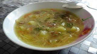 Вермишелевый суп... Очень вкусный и наваристый суп...