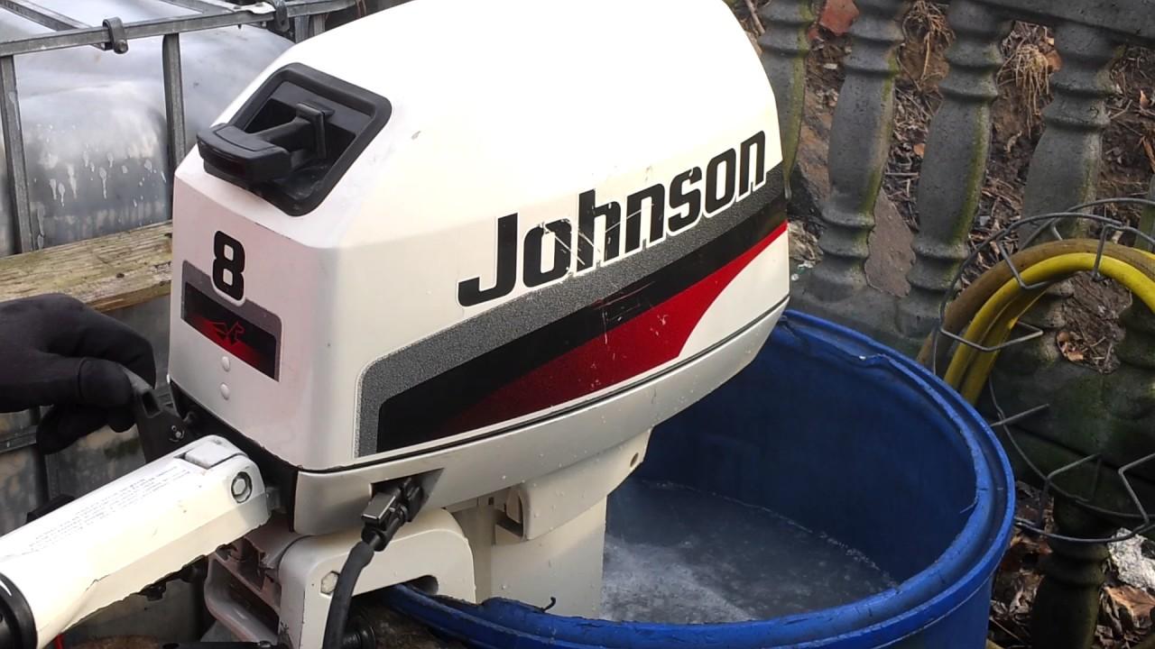 1997 Johnson 8 Hp Outboard Motor 2 Stroke  Dwusuw