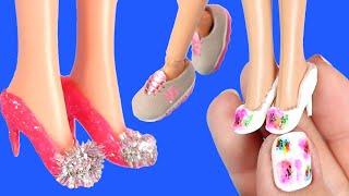 10 Farklı Barbie Ayakkabısı Nasıl Yapılır? Kendin Yap DIY Barbie Shoes