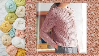 ПУЛОВЕР КРЮЧКОМ. РАЗБОР УЗОРА. || Crochet. PULLOVER. ANALYSIS OF THE PATTERN