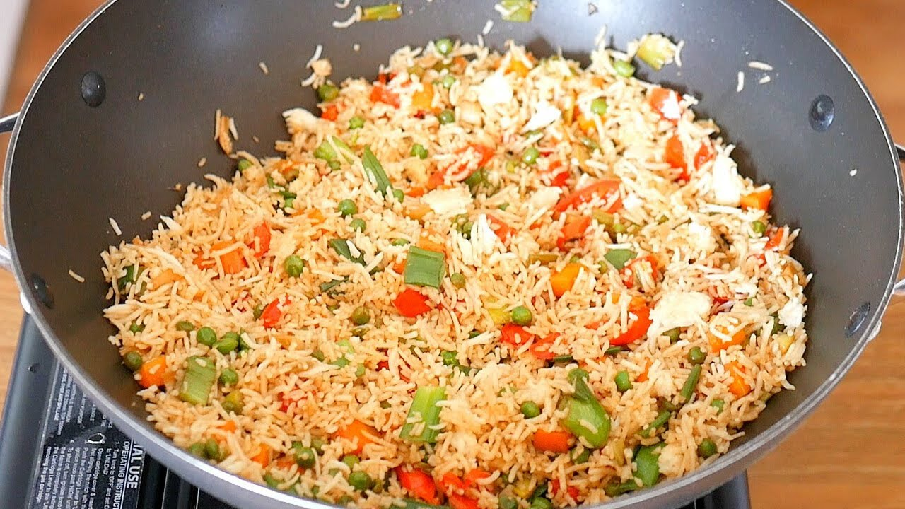 Vegetable fried rice with egg how to make easy 10 min egg fried vegetable fried rice with egg how to make easy 10 min egg fried rice recipe my cooking channel forumfinder Choice Image