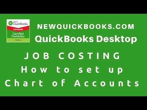 1. QuickBooks Job Costing  -  How To Set Up Chart Of Accounts