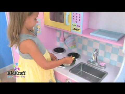 cuisine pastel  pour enfant  kidkraft sur docteurdiscount.com