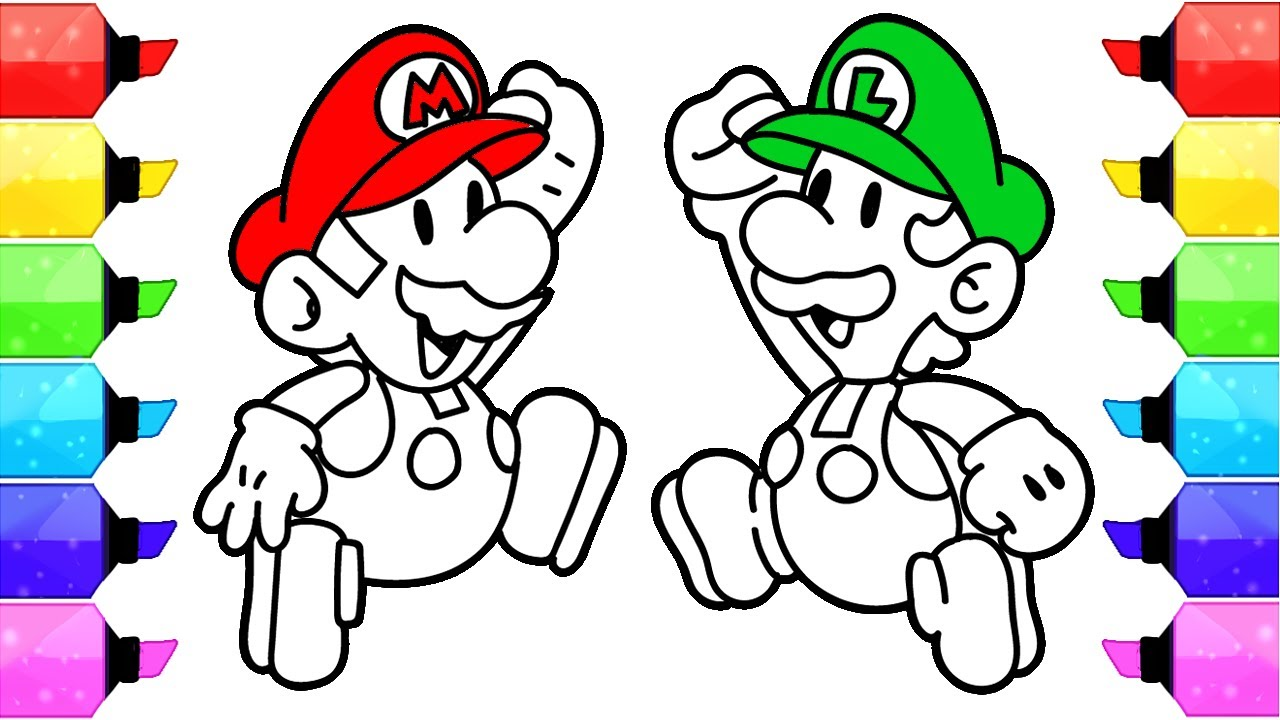 Super Mario Coloring Pages - Nintendo Super Mario and Luigi Coloring ...