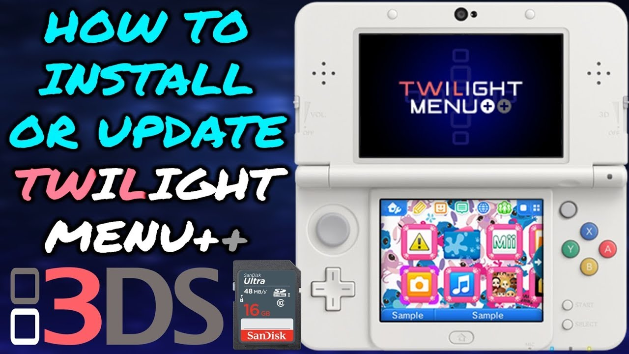 3DS Update/Install Latest Version Of TWiLight Menu!