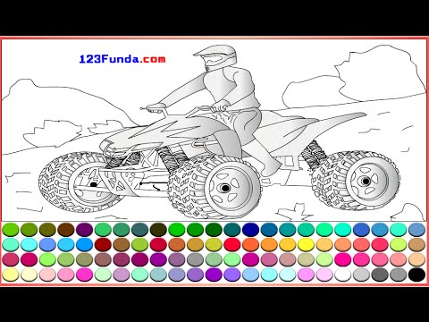 4 Wheeler Coloring Pages For Kids - 4 Wheeler Coloring Pages - YouTube