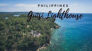 Guimaras Island Philippines Guisi Beach Lighthouse Eating Mangos