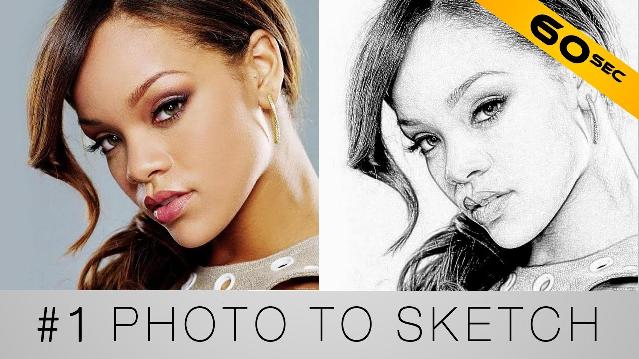 Turn your photo into a sketch photoshop in 60 seconds youtube