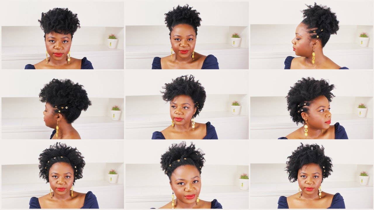Download 7 NATURAL HAIRSTYLES ON SHORT NATURAL HAIR | Quick and Easy Natural Hairstyles