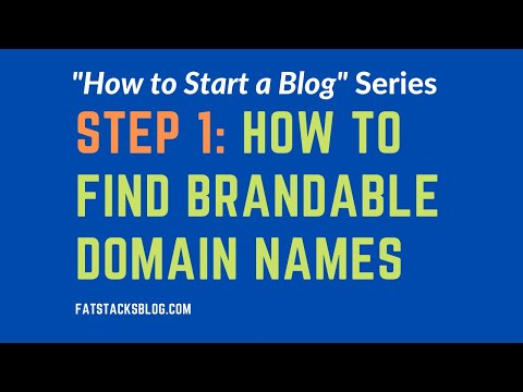 How to Find Brandable Domain Names