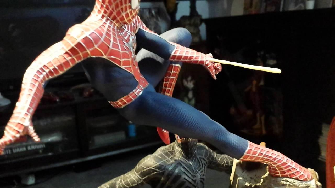 sideshow spider-man vs venom vs sandman diorama statue review