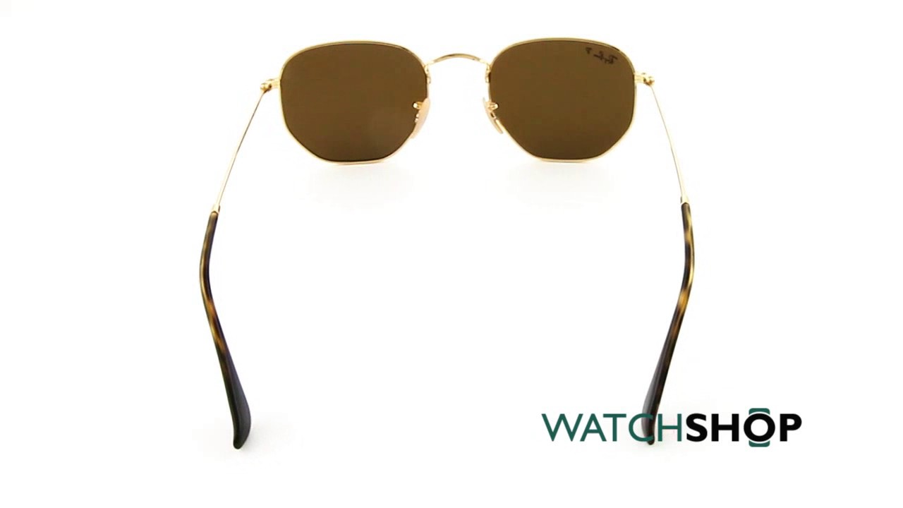 e52a476dfa4 Ray-Ban Men s Hexagonal Flat Lens Sunglasses (RB3548N-001 57-51 ...