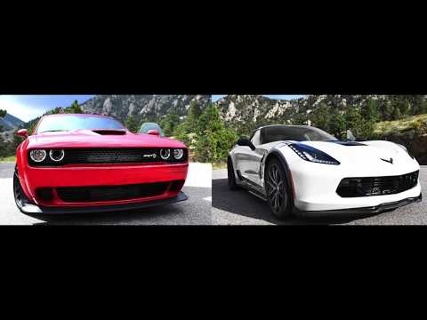 RUMBLE: 2018 Challenger SRT Hellcat Wideextra VS. 2018 Corvette Grand Touring (Plus video)