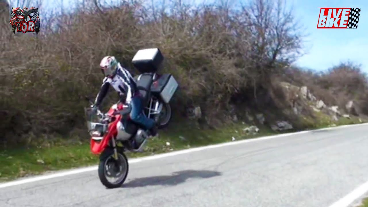 No Test For Old Men Bmw R 1200 Gs Wheelies And Stoppies