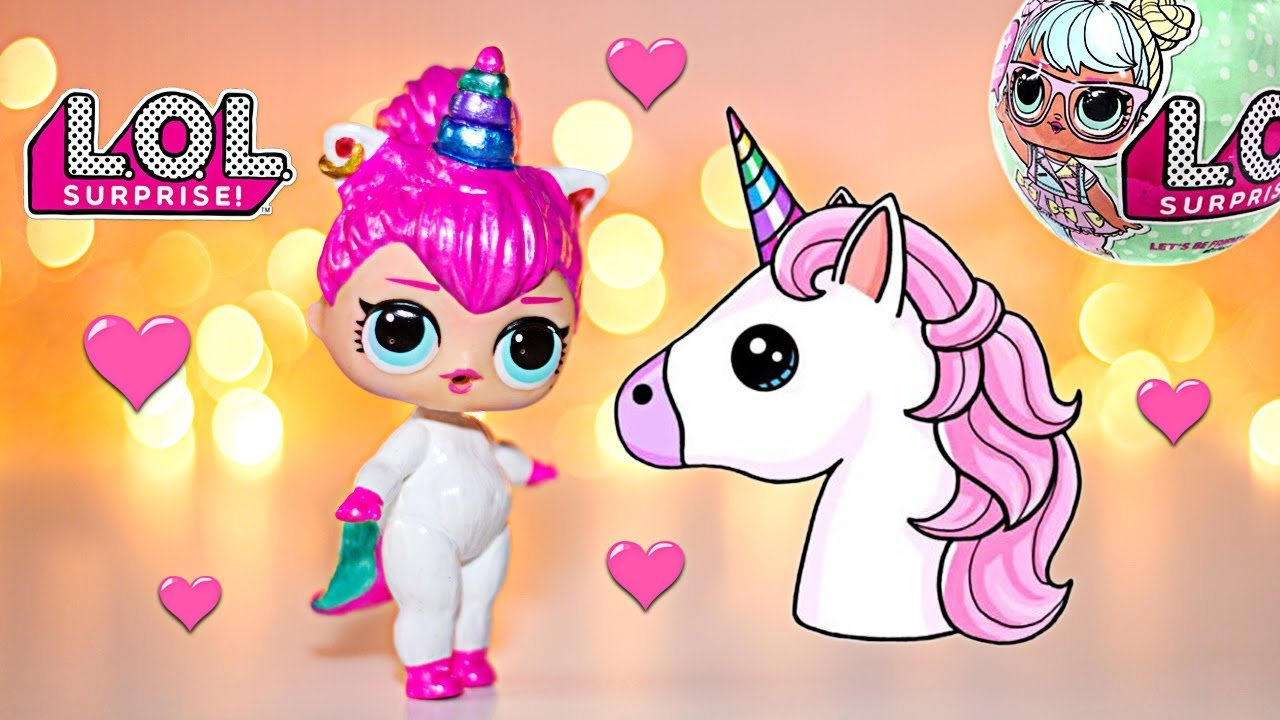 Lol Unicorn Da Colorare: UNICORN Custom LOL Surprise Doll DIY. LOL Dolls Repaint