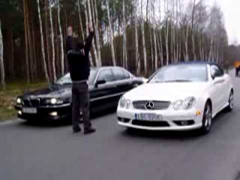 Mercedes Benz CLK 500 amg vs BMW 750i