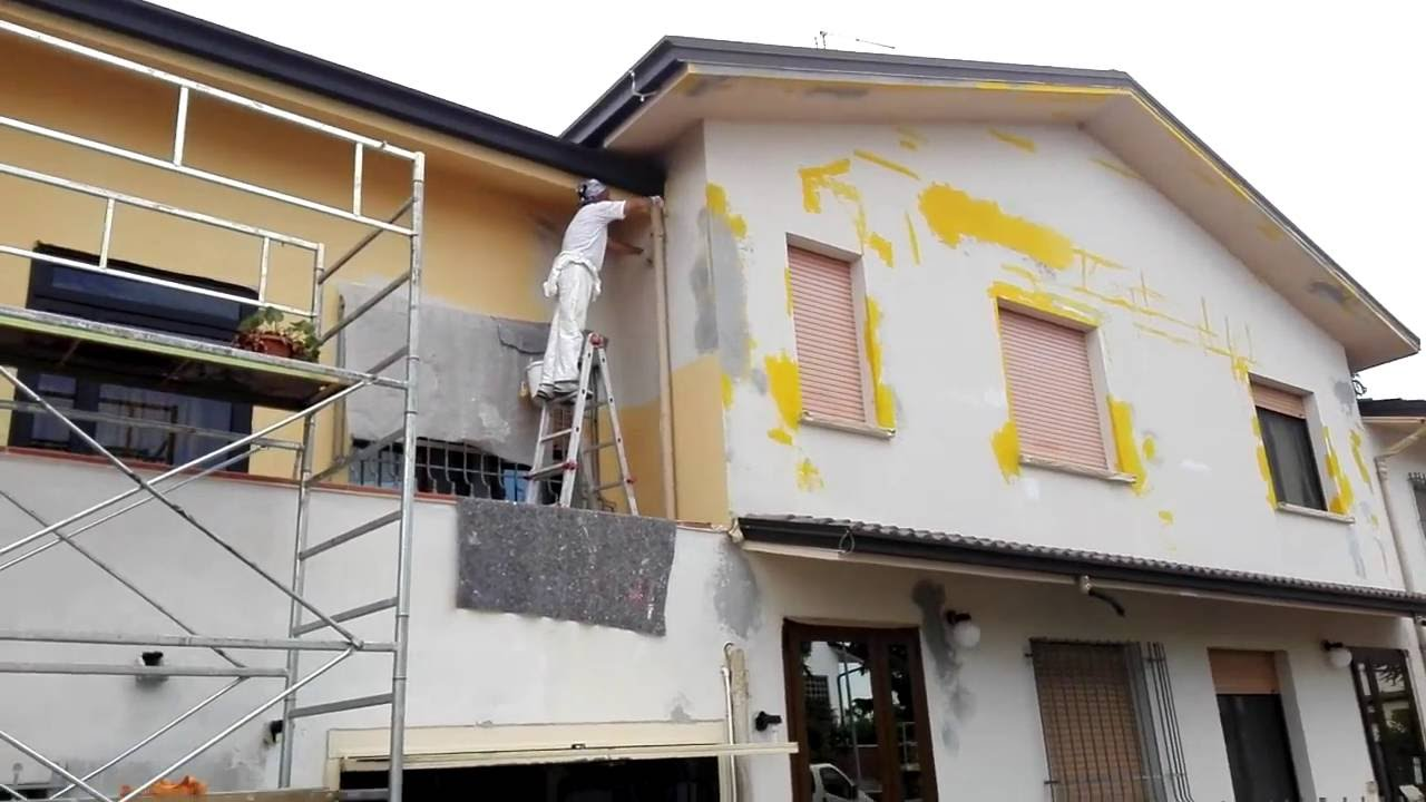 Codir imbiancature tinteggiatura da esterno facciata for Tinteggiare esterno casa