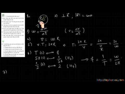 [Vật lí 10 cơ bản] Bài 5 Chuyển động tròn đều  Hướng dẫn giải bài tập SGK