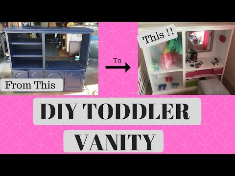 DIY | TODDLER VANITY / DRESS UP CENTER