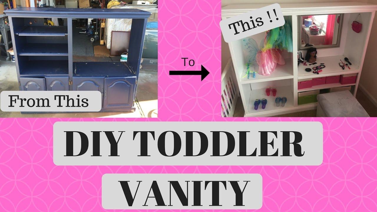 Diy Toddler Vanity Dress Up Center Youtube