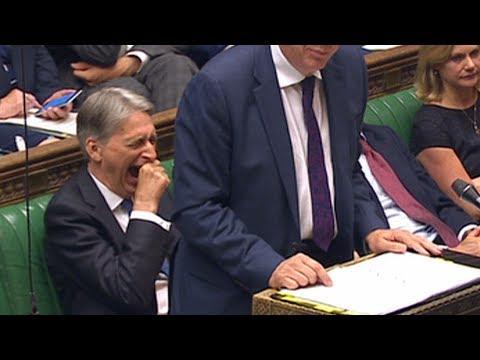 Philip Hammond yawns his way through PMQs