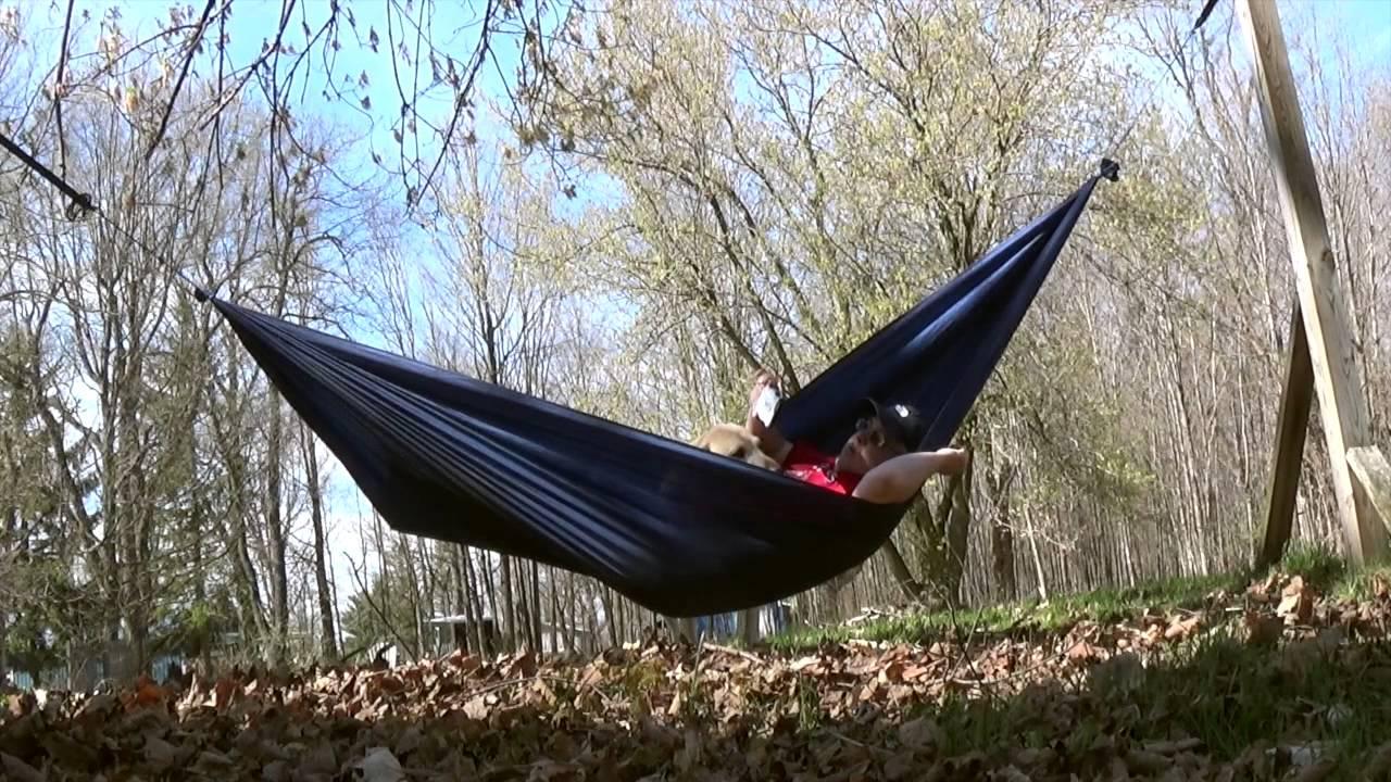 backyard hang in diy tablecloth hammock youtube