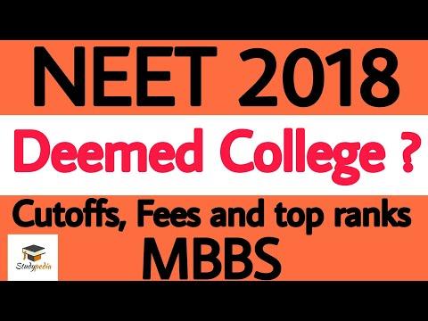 Deemed University's ? NEET 2018 mbbs admission