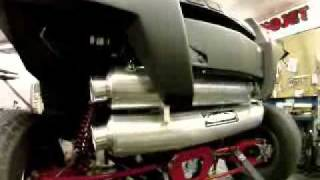 RZR XP 900 Looney tuned exhaust  LTE.flv