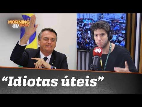 "Bolsonaro chama manifestantes de ""idiotas úteis"". Pode isso, Coppolla?"