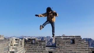 Running on the great wall ~万里の長城をダッシュしているだけの動画~