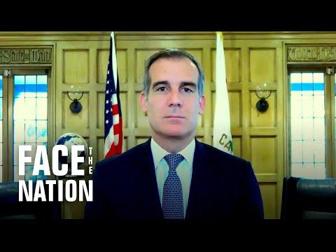 "Los Angeles Mayor Eric Garcetti sees ""darkest month"" ahead as virus surges"