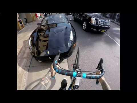 Crash ferrari Brumotti bike in Beverlyhills