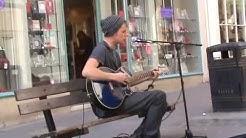 "Jake Wright performs ""Mr. Brightside"" in Bath Spa"