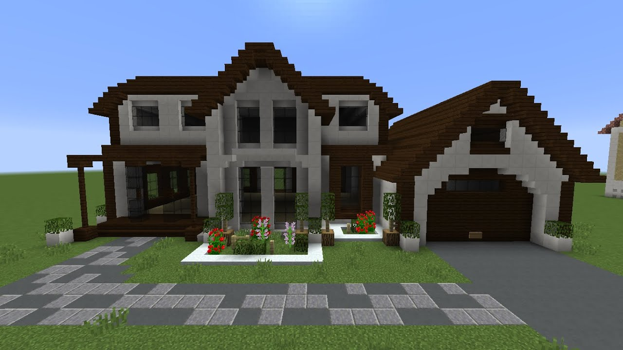 Minecraft como construir uma casa americana no minecraft 2 youtube - Como construir una casa ...