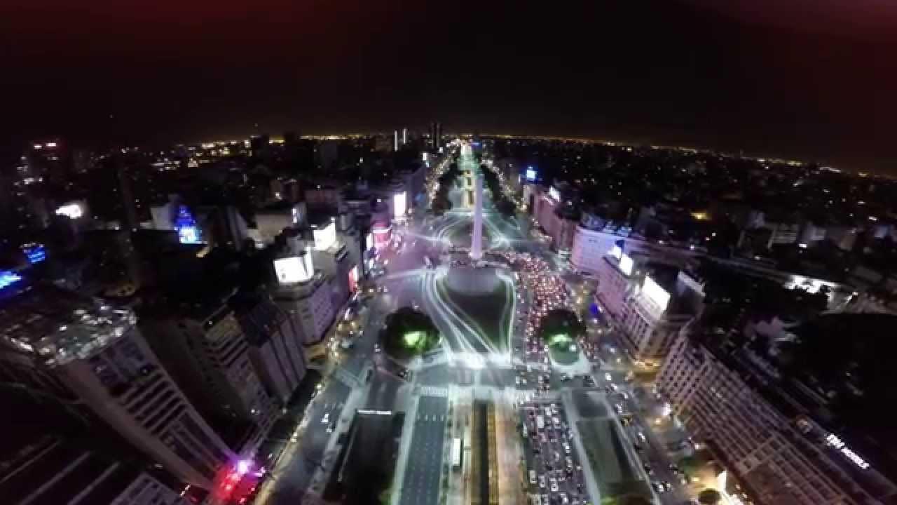 Desde Arriba Obelisco De Buenos Aires Drone Youtube